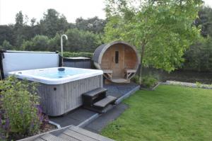 Huisje met sauna en jacuzzi veluwe